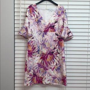 NWOT Trina Turk flower print dress size 14
